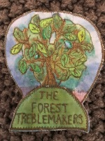 Photo of the Treblemakers felted badge